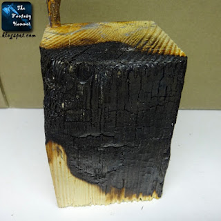Burned plinth for Warhammer display