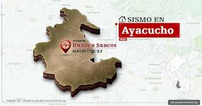 Temblor en Ayacucho de 3.7 Grados (Hoy Jueves 21 Septiembre 2017) Sismo EPICENTRO Huanca Sancos - IGP - www.igp.gob.pe