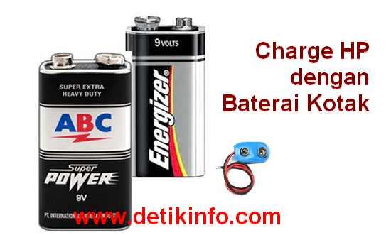 cara buat ces hp dengan baterai kotak 9 volt