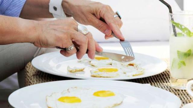kebanyakan makan telur