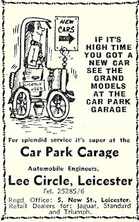 Car Park Garage of Leicester advert from 1963