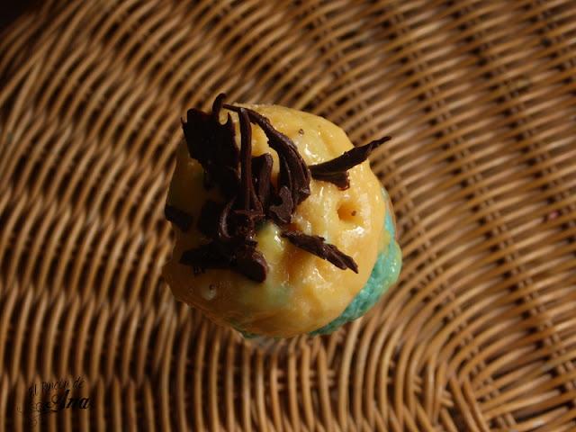 Helado minion de banana y mango
