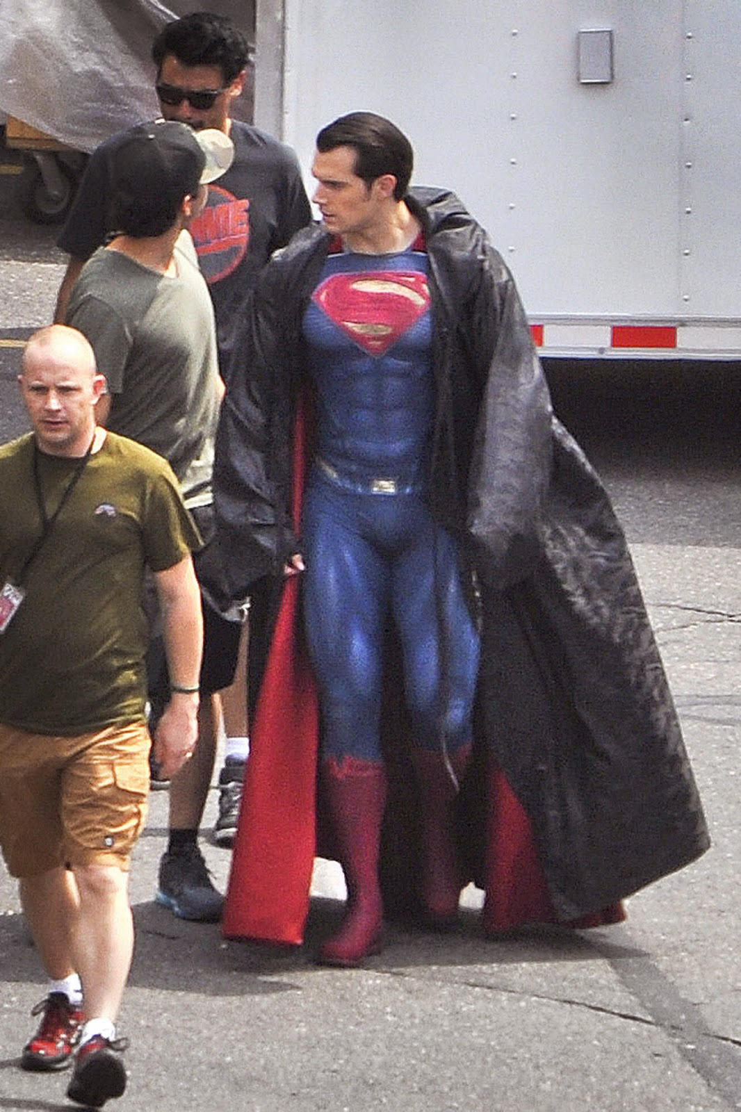 Henry Cavill en el rodaje Batman V Superman: Dawn of Justice