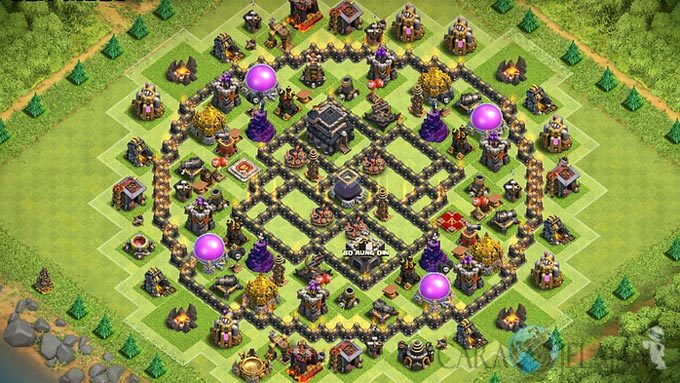 Base Farming TH 9 COC Update Bomb Tower Terbaru 2017 Tipe 14