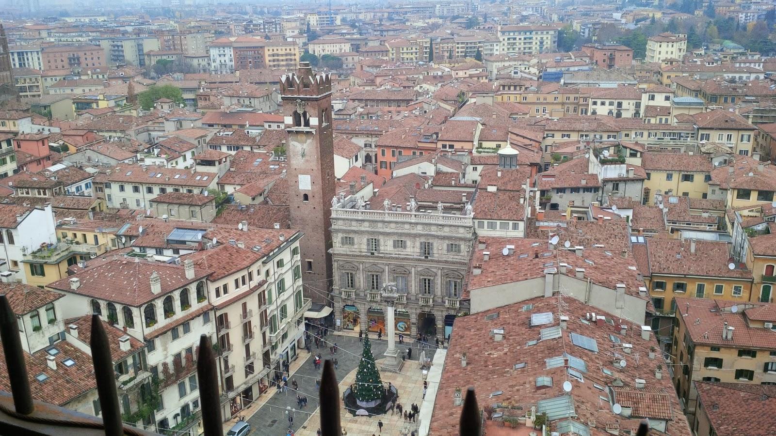 Piazza delle Erbe seen from Torre dei Lamberti