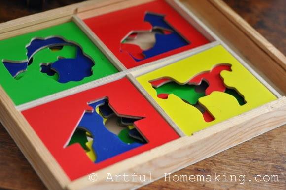 Fine Motor Coordination: Keeping Little Ones Hands Busy. wooden stencils