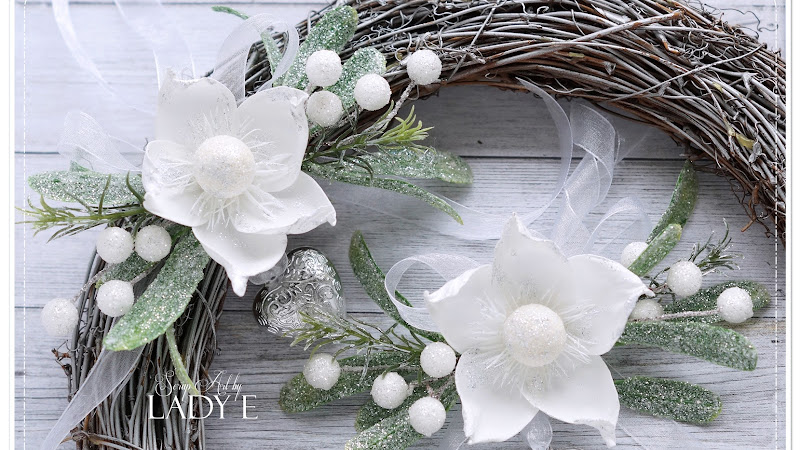 Christmas Decor with Foamiran Flowers