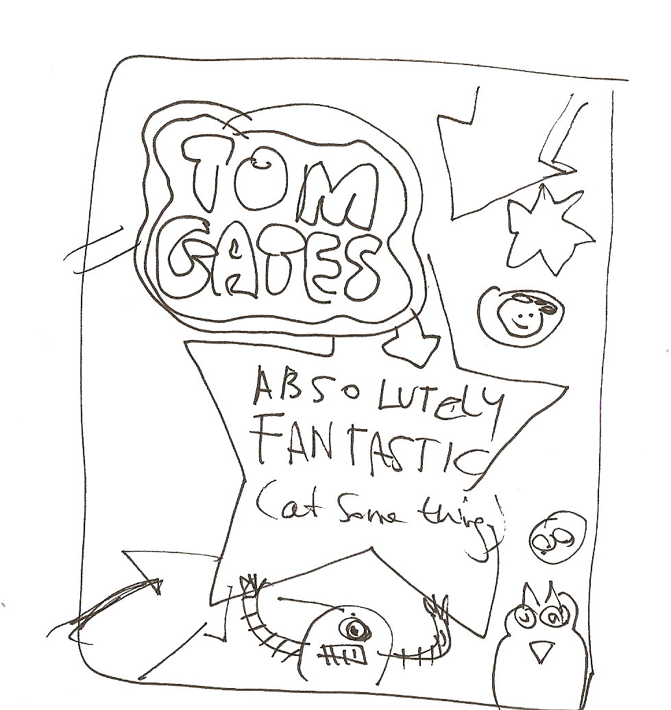 tom gates coloring pages