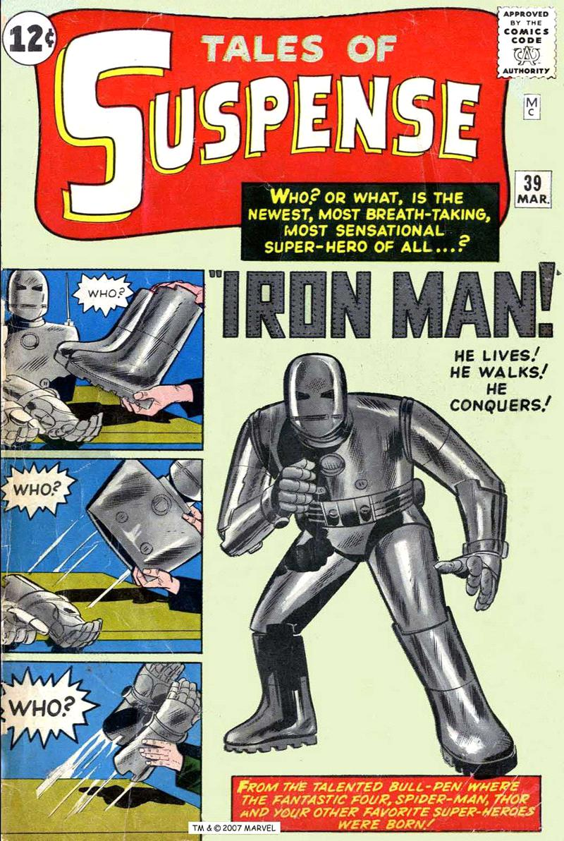 tales of suspens iron man, les origines d'un homme d'acier