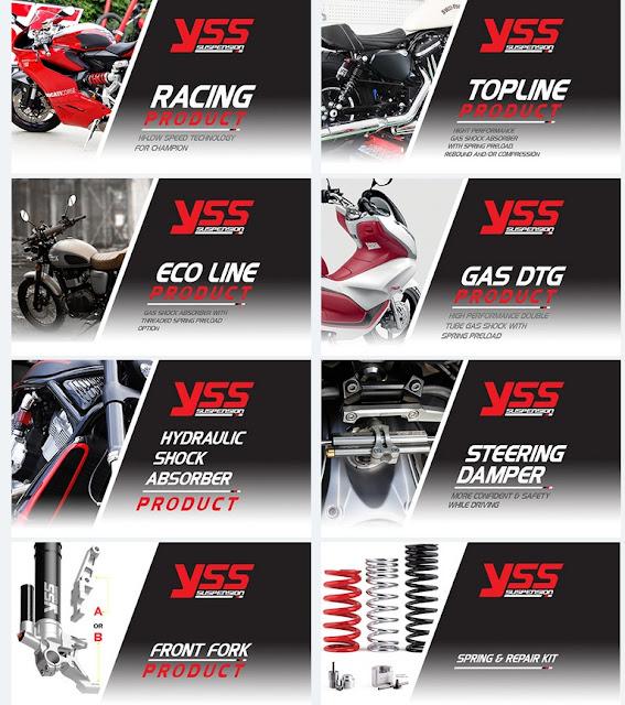 Daftar Harga Pasaran Shocbreaker Motor merk YSS (www.motroad.com)