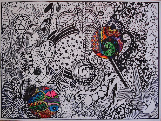 Black and White Doodle Design