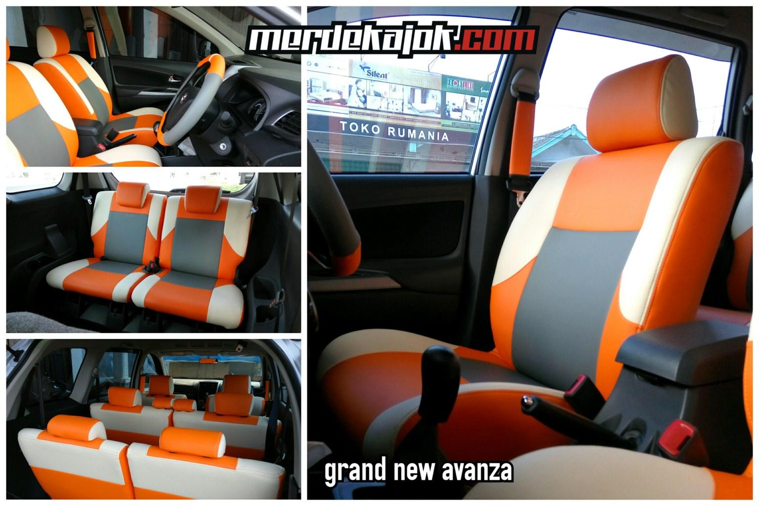 Jok Grand New Avanza Cover Spion Mobil Malang Merdekajok Orange Gray Cream
