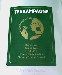 Darjeeling Oolong type Etikett Vorderseite