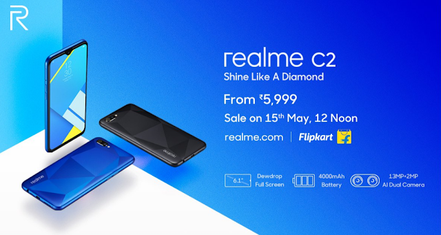 Real Me C2 - First sale starts at 12 PM on 15th May On Flipkart