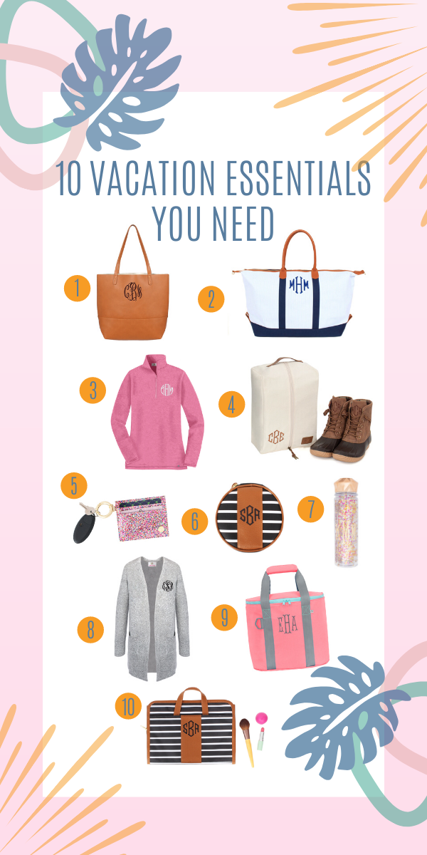 10 monogram essentials you need for your vacation