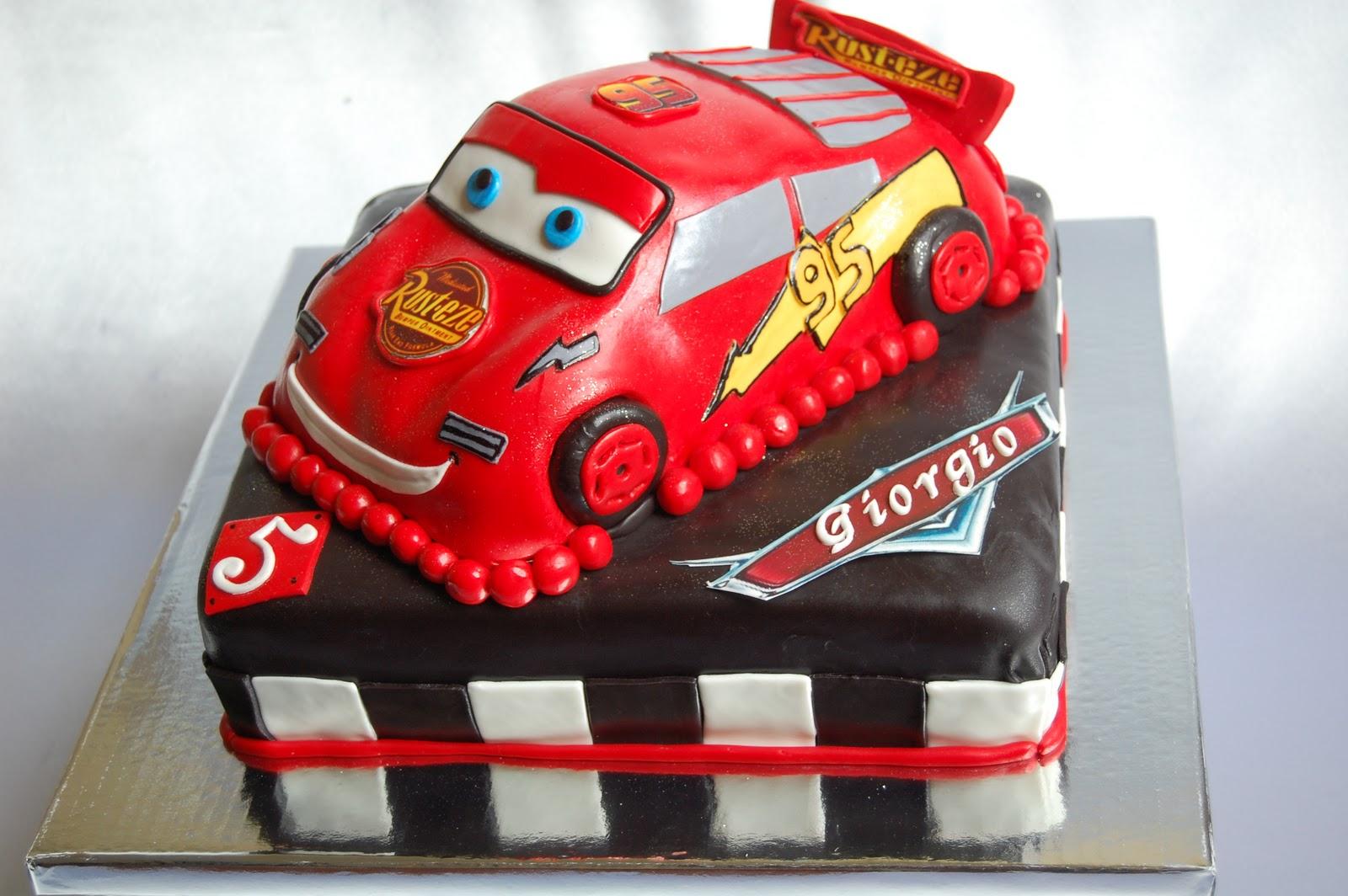Disney Cars Birthday Cake: CUSTOMISED CAKES BY JEN: 3D Lightning McQueen Cake
