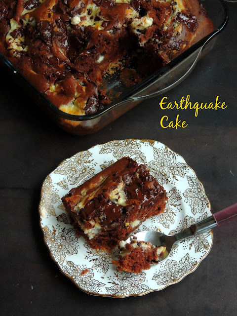 American Earthquake Cake, Earthquake cake