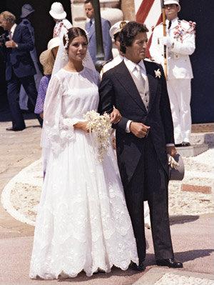 Caroline de Monaco vestido de noiva, Leia
