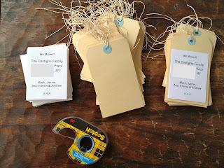 taping cardstock to manilla tag