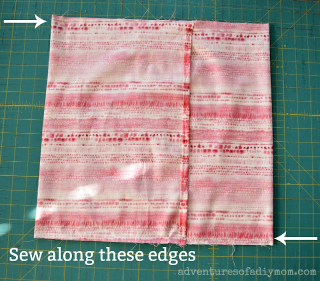 sewing envelope pillows