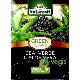 Ceai verde cu aloe vera -bogat in antioxidanti