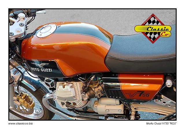 Racing Caf U00e8  Moto Guzzi V750  U0026quot Rgs U0026quot  By Classic Co