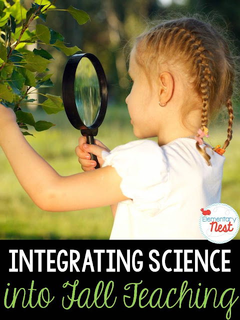 Fall Science- freebies in blog post- activities to help integrate science into your fall teaching
