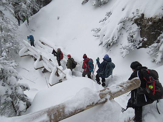 Mostek nad Doliną Białego.