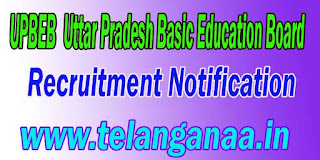 UPBEB (Uttar Pradesh Basic Education Board) Recruitment Notification 2016