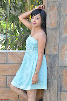 Sahana New cute Telugu Actress in Sky Blue Small Sleeveless Dress ~  Exclusive Galleries 033.jpg