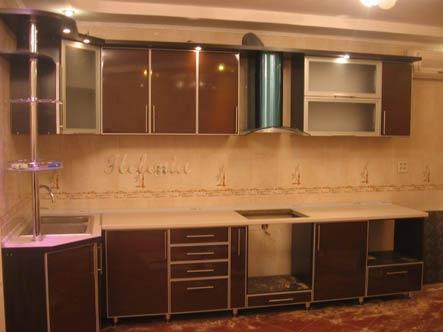 венге глянец алюминий кухня дизайн
