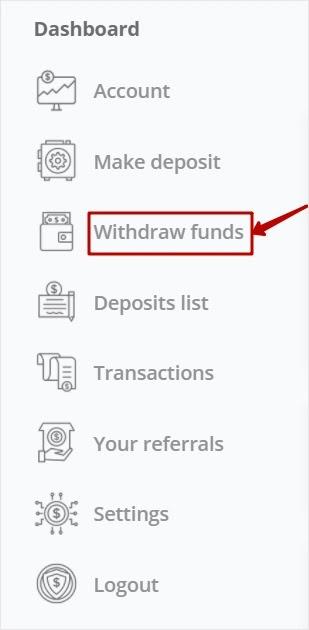 Вывод средств в CryptoNode