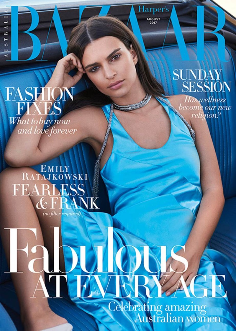 Emily Ratajkowski covers Harper's Bazaar Australia August 2017