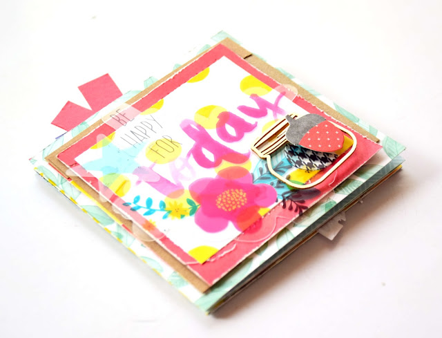 Mini álbum scrapbooking san valentin