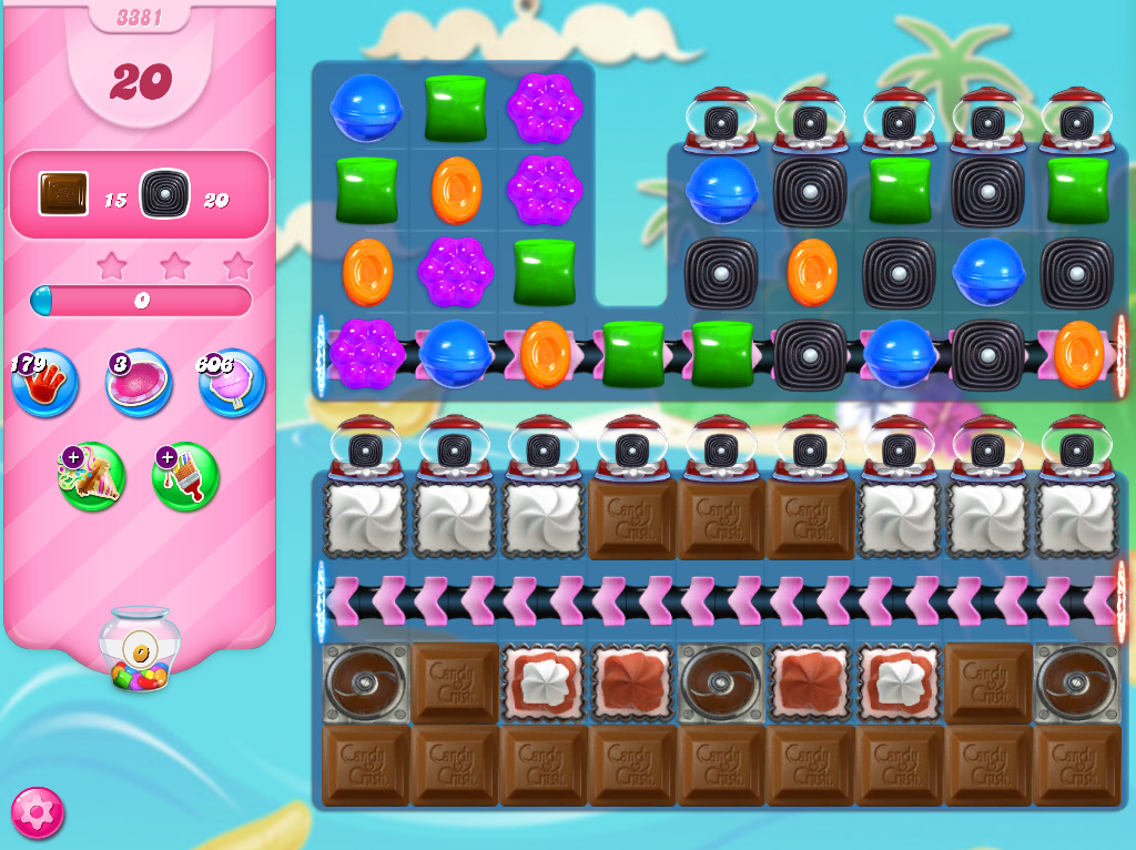 Candy Crush Saga level 3381