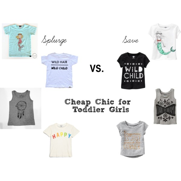 Cheap Chic for Toddler Girls: Graphic Tees