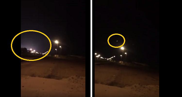 عاجل |  شاهد لحظة سقوط صاروخ بقاعدة جوية في الطائف بالسعودية
