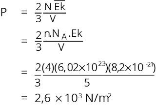 Jawaban soal fisika bab gas ideal nomor 4