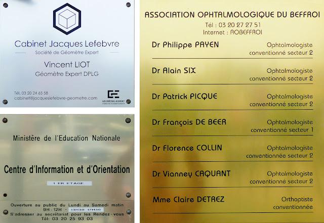 plaque des ophtalmologues du cabinet