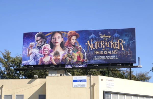 Nutcracker Four Realms movie billboard