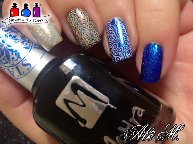 Different Dimension, Absolute Zero, Hubble, DRK Nails, DRK Themes SF, Moyra, Black, White, Nude, Blue, Holografico, Konad, Clear Jelly Stamper, Alê M., Alquimia das Cores, Seche Vive, Top Coat