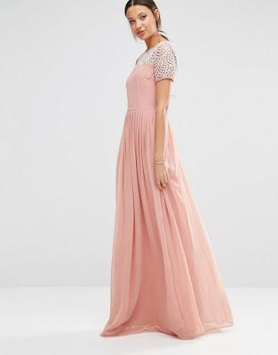 vestidos largos coral como combinar