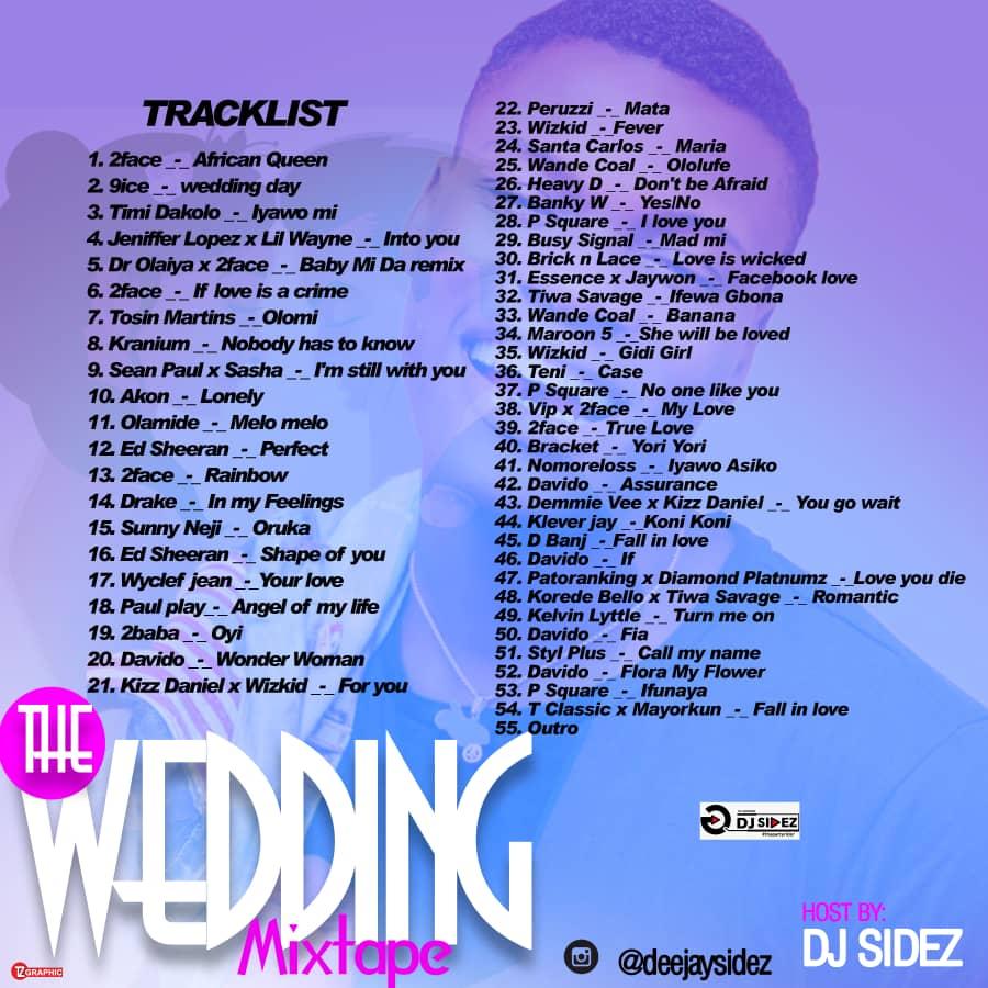 DOWNLOAD MIXTAPE: DJ Sidez - The Wedding Mix || @deejaysidez