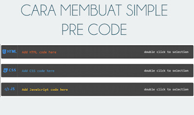 Cara Memasang Simple Pre Code di Blog