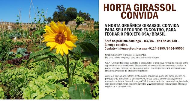 Convite Horta Girassol