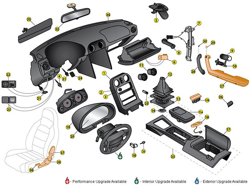 Miata Interior Part on Miata Body Parts Diagram