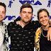 Pete Nappi, Ethan Thompson e Samantha Ronson da Ocean Park Standoff marcam presença no MTV Video Music Awards 2017 no The Forum em Inglewood, Califórnia - 27/08/2017