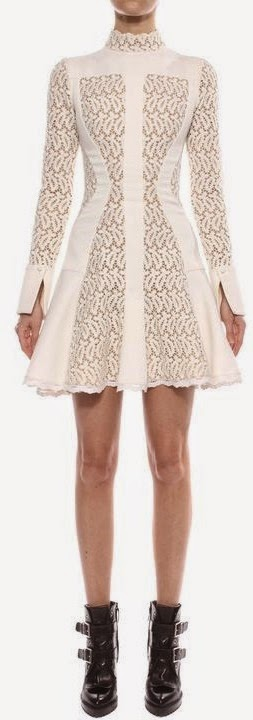 BRODERIE ANGLAISE MINI DRESS Front
