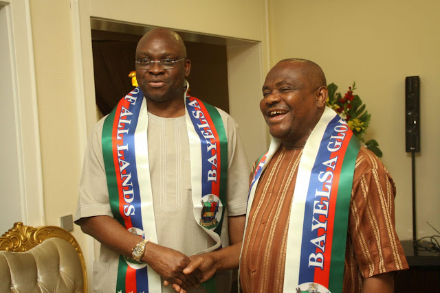 Image result for pictures of Ayo Fayose and Governor Wike