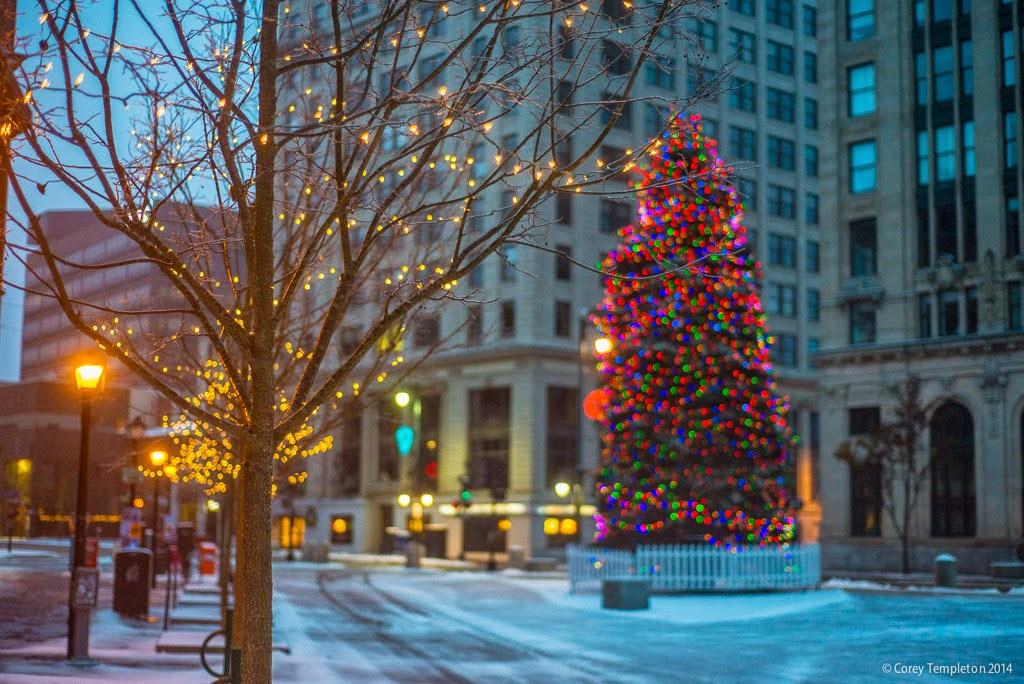 Portland Maine Monument Square Christmas Tree 2021 Corey Templeton Photography December 2014